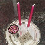 Iranissa kaunis asetelma ja kynttilät joita ei saa polttaa